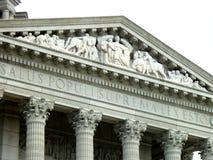 Верхняя часть фриза здания капитолия Jefferson City стоковые изображения rf