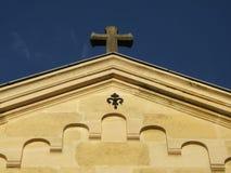 верхняя часть христианской церков стоковые фотографии rf