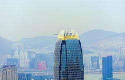 Верхняя часть центра международных финансов в Гонконге Стоковые Фото