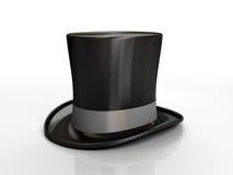 верхняя часть черной шляпы Стоковое Изображение