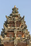 Верхняя часть шпиля Kori Agung на виске Batuan, Ubud, Бали Индонезии стоковое фото rf
