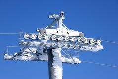 Верхняя часть лыж-подъема и снега Стоковое Фото