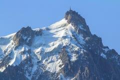 Верхняя часть Mont Blanc, ледника Стоковое Фото