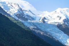 Верхняя часть Mont Blanc, ледника Стоковая Фотография RF