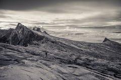 Верхняя часть Mount Kinabalu, Сабаха, Борнео Стоковая Фотография RF