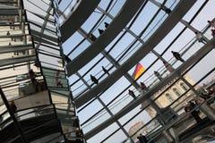верхняя часть reichstag купола Стоковое Изображение