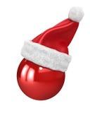 верхняя часть santa шлема рождества шарика Иллюстрация вектора