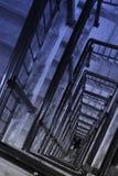 верхняя часть stairway случая старая спиральн Стоковые Изображения