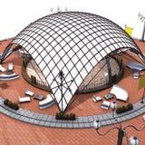 верхняя часть tensostructure Стоковое Изображение RF