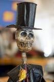 Верхняя шляпа и череп в Мексике Стоковое Изображение
