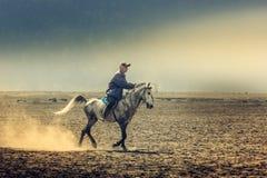 Верховая езда в горе Bromo стоковое фото rf