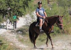 Верховая езда в valnontey Стоковое Изображение
