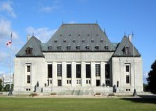 Верховный Суд Канады, Оттавы Стоковое Фото