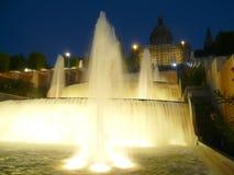верхушка Испании фонтанов barcelona montjuic Стоковые Фото