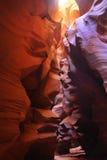 верхушка каньона az антилопы стоковое изображение
