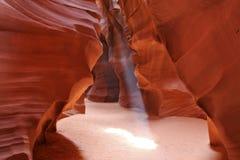 верхушка страницы каньона антилопы Стоковые Изображения RF