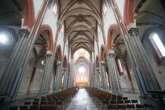 Верчелли, церковь Sant'Andrea Стоковые Фотографии RF