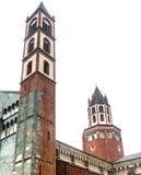 Верчелли, церковь Sant'Andrea стоковое изображение rf