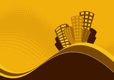 вершина холма графика зданий Стоковые Фото