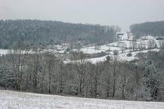 Вершина холма Snowy Стоковая Фотография