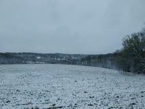 Вершина холма Snowy Стоковое фото RF