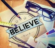 Верьте концепции поклонению вероисповедания воодушевленности надежды Стоковое Изображение RF