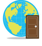 дверь к миру Стоковая Фотография