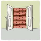 дверь открытая Стоковое фото RF
