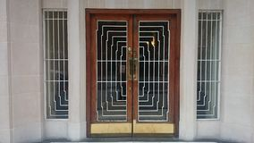 дверь стиля Арт Деко Стоковая Фотография RF