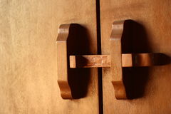дверь Таиланд деревянный Стоковое фото RF