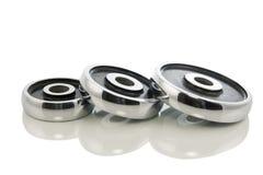 3 веса гантели изолированного в белизне Стоковая Фотография RF