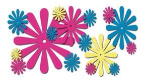 веселая весна цветков иллюстрация вектора
