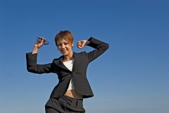 веселая женщина Стоковые Фотографии RF