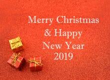 Веселое рождество и счастливая иллюстрация 2019 Нового Года стоковые фотографии rf