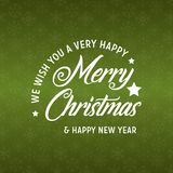 Веселое рождество и С Новым Годом! зеленая предпосылка 2019 иллюстрация вектора