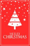Веселое рождество с плакатом 6000 x дерева иллюстрация 4000 бесплатная иллюстрация