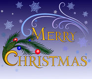 Веселое Christmas.inscription Стоковая Фотография RF