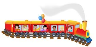 Веселый поезд иллюстрация вектора