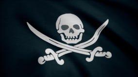 Веселый Роджер традиционное английское имя для флагов, который летели для того чтобы определить пиратский корабль около для того  иллюстрация штока