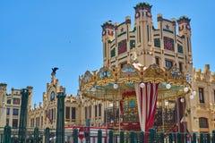 Весел-идти-круглый в вокзале Валенсия r стоковое фото rf