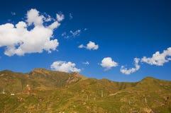 Весеннее время в тибетском плато Стоковое фото RF