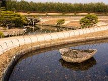 Весеннее время в японском саде Стоковая Фотография RF