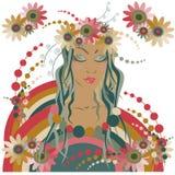 весеннее время девушки иллюстрация штока