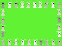весеннее время кроликов граници бесплатная иллюстрация