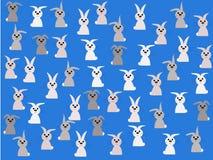 весеннее время кроликов иллюстрации Стоковое Изображение