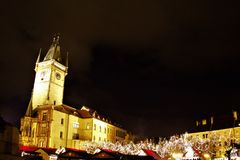Веселая Прага Cristmas! Стоковая Фотография