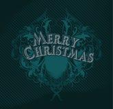 Веселая чернота cristmas Стоковые Изображения RF
