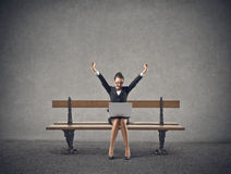 Веселить бизнес-леди Стоковая Фотография