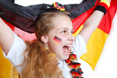 веселит немецкую команду футбола девушки Стоковое фото RF
