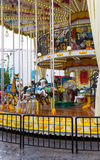 Веселый идет круг в парке атракционов Стоковое фото RF